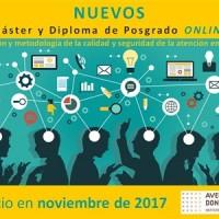 Máster y Posgrado online en Gestión y metodología de la calidad y seguridad de la atención en salud más cerca
