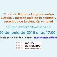 20 junio: sesión informativa online del Máster y del Diploma de Posgrado