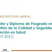 INSCRIPCIONES ABIERTAS a la 3ª Ed. del Máster y Diploma de Posgrado online