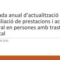 Material disponible de la Jornada anual d'actualització sobre conciliació de prestacions i activitat laboral en persones amb trastorn mental