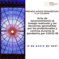 Acto de reconocimiento al trabajo realizado y las lecciones aprendidas por los profesionales y centros durante la pandemia por COVID-19
