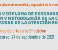 Inscripciones abiertas: Másterydiplomadeposgradoonline Gestión y metodología de la calidad y seguridad de la atención en salud
